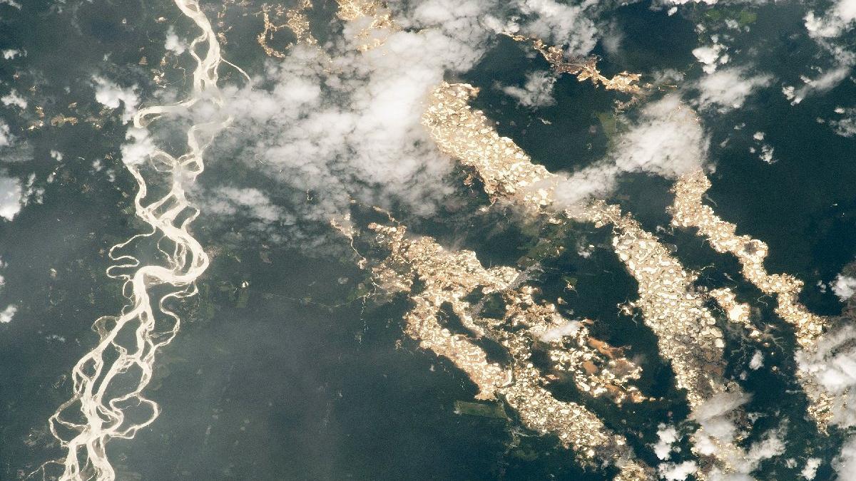 NASA'dan Amazon'un 'altın nehirleri'