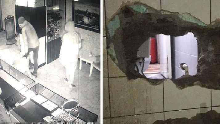 Polis hırsızların peşinde... Duvarı delip kuyumcuya girdiler