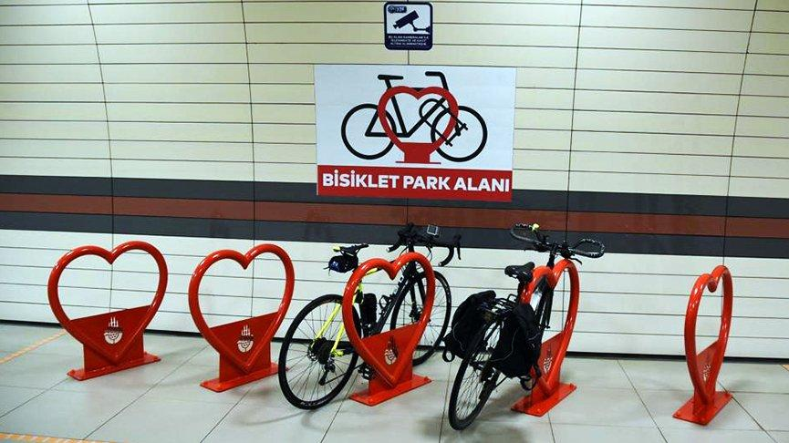 İstanbul metrosuna bisiklet parkları kuruluyor
