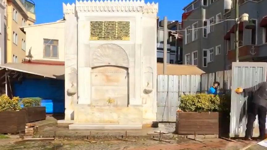 Osmanlı mirası tarihi çeşme İBB tarafından yenilendi