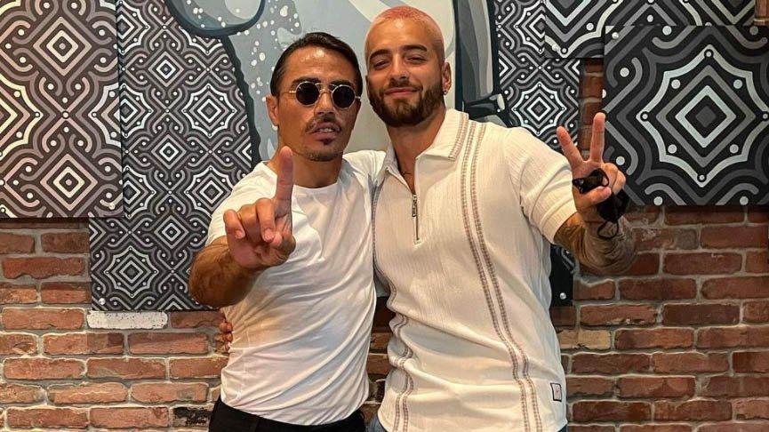 Kolombiyalı şarkıcı Maluma ile Nusret buluştu