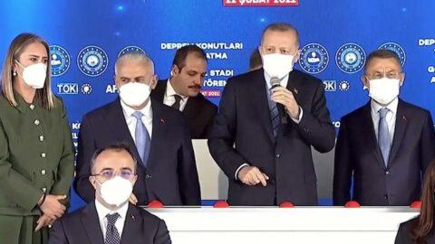 Erdoğan'ın katıldığı törende Tunç Soyer'e dikkat çeken hitap