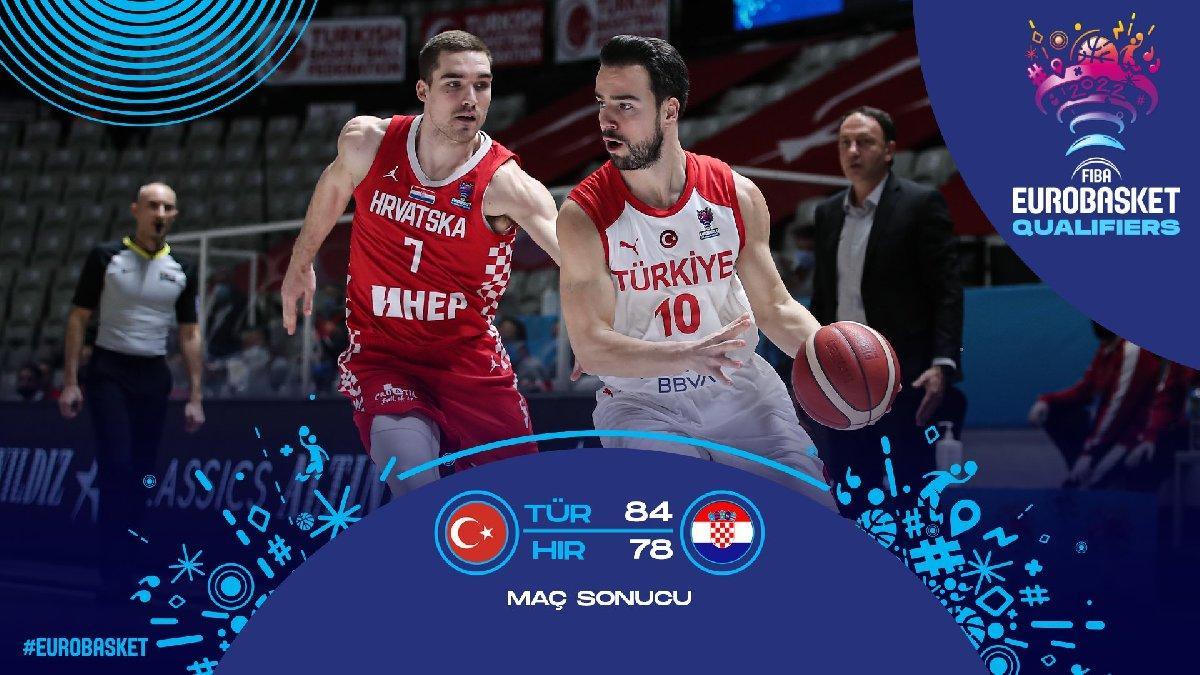 12 Dev Adam Hırvatistan'ı devirdi galibiyetle kapattı | Türkiye 84-78 Hırvatistan