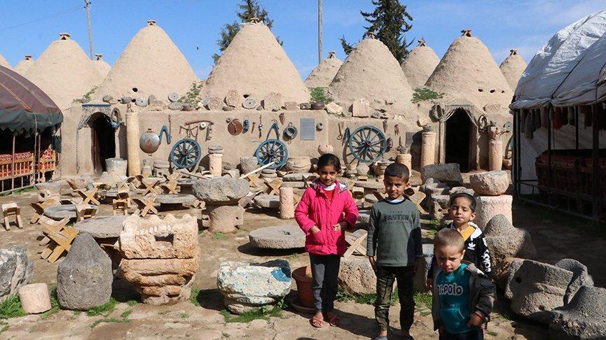 Harran'ın konik kubbeli evleri yazın serin kışın sıcak kalıyor