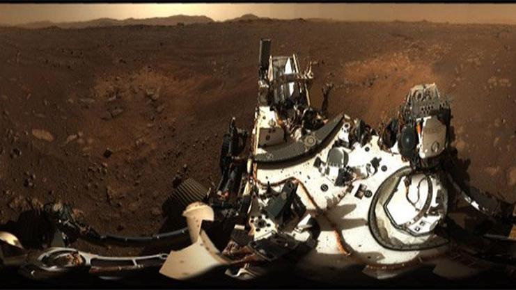 NASA paylaştı! İşte Mars'taki Jezero Krateri...