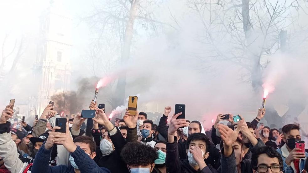 Beşiktaş'a statta coşkulu karşılama