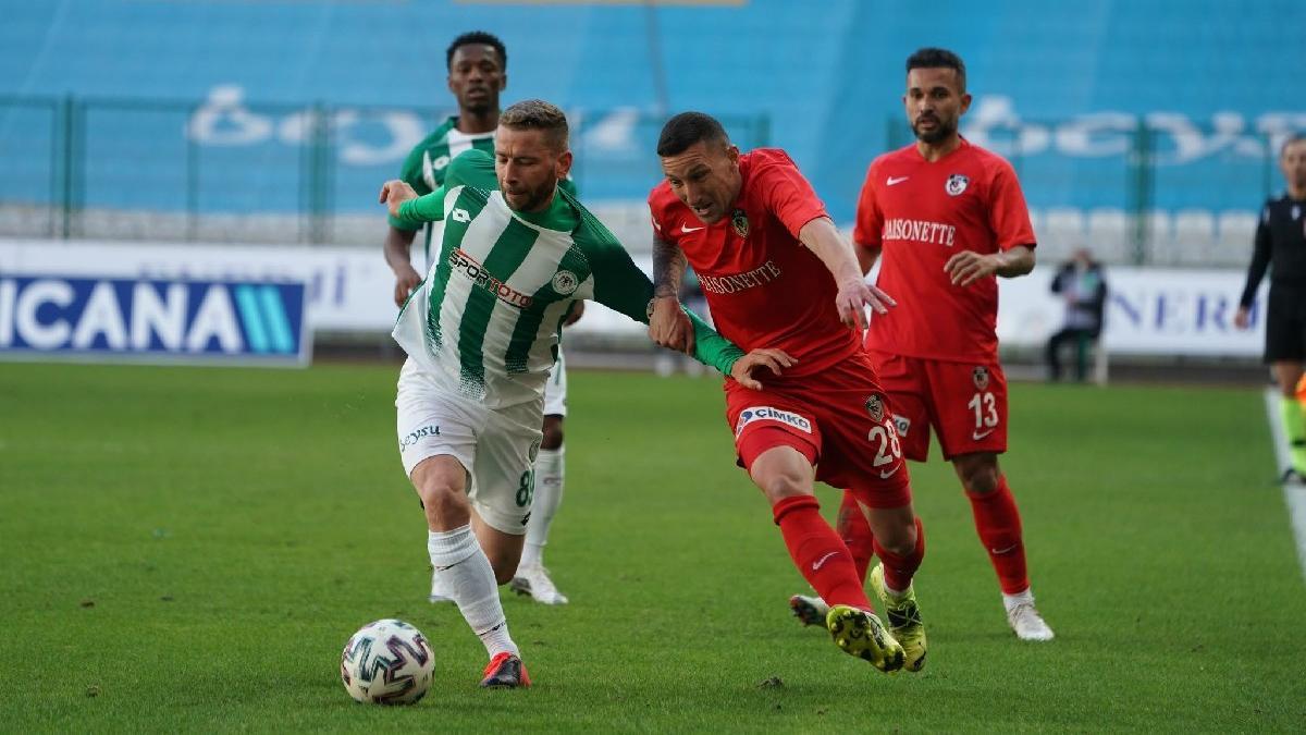 Konyaspor-Gaziantep FK maçında gol sesi çıkmadı
