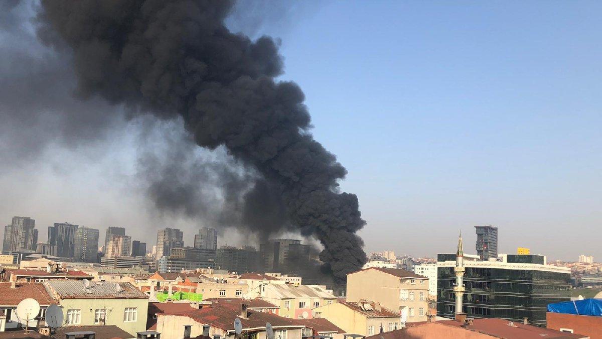 İstanbul Halkalı'da korkutan yangın