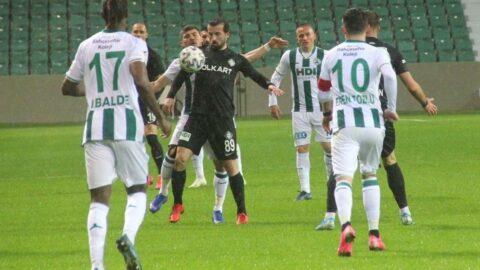 Giresunspor'un 12 maçlık galibiyet serisini Altay bitirdi