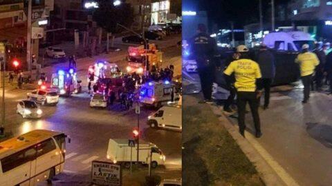 Özel harekat aracı kaza yaptı: 4'ü polis 6 yaralı