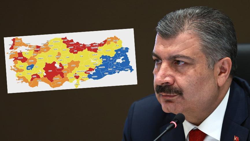 Sağlık Bakanı Fahrettin Koca haritayı paylaşarak uyardı