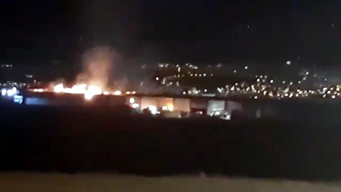Tekstil fabrikasında büyük yangın