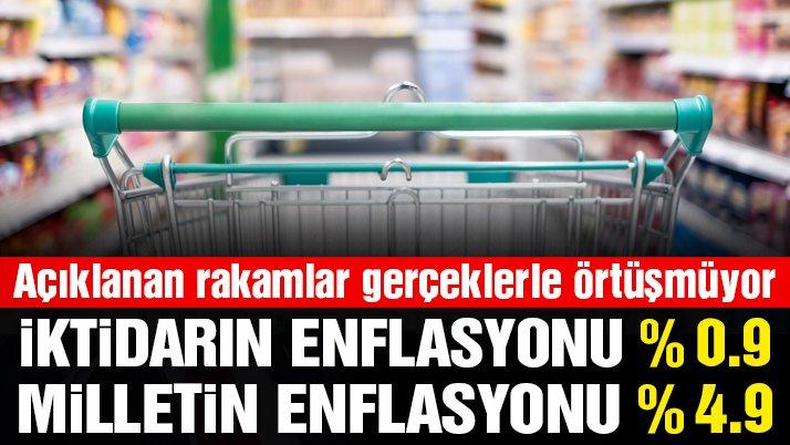 Milletin enflasyonu TÜİK'i beşe katladı