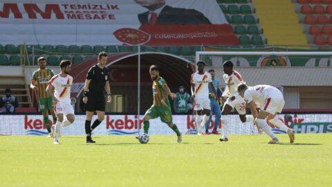 Alanyaspor-Göztepe maçında galip yok... Üç puan hasreti dört maça çıktı