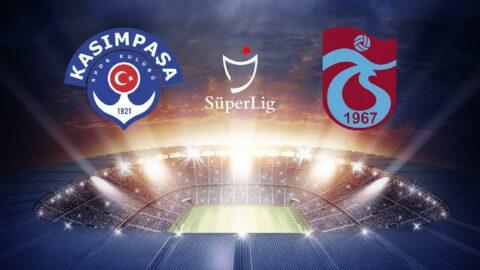 CANLI   Kasımpaşa 1-2 Trabzonspor (ikinci yarı oynanıyor)