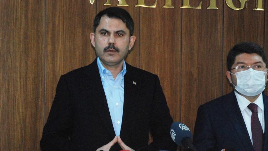 Çevre ve Şehircilik Bakanı Murat Kurum'dan deprem açıklaması