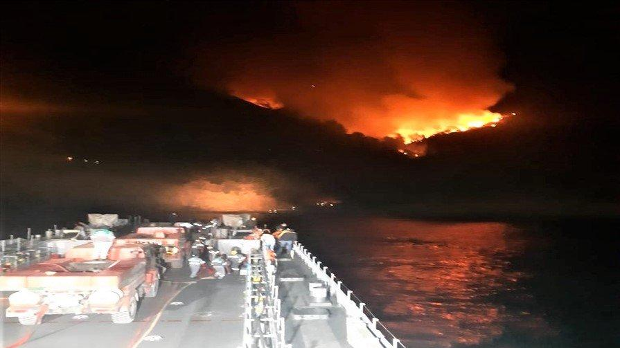 Orman yangını İHA yardımı ile söndürüldü