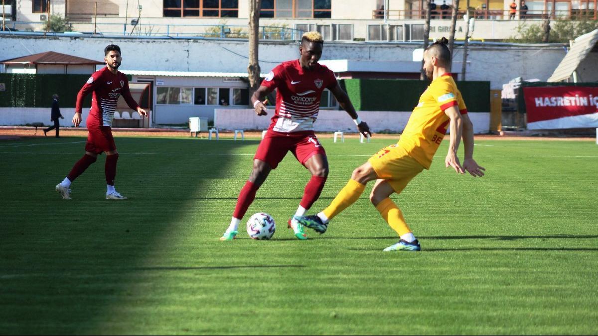Hatayspor Kayserispor maçında dört gol, bir kırmızı kart