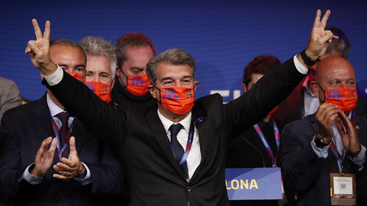Barcelona'da efsane başkan Joan Laporta yeniden seçildi!