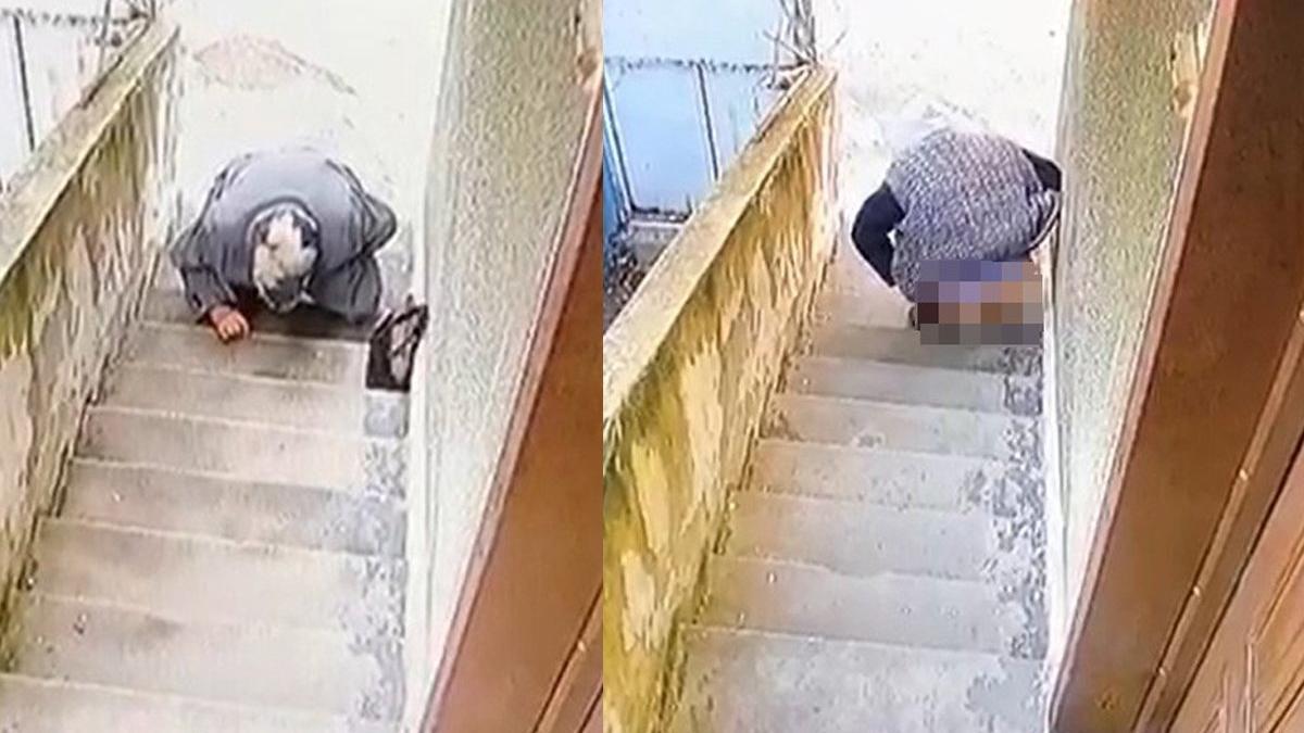 Hırsızlar için taktırdığı güvenlik kamerasını izleyince şoke oldu