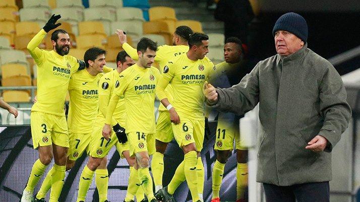 Villarreal, Lucescu'nun Dinamo Kiev'ini deplasmanda yıktı
