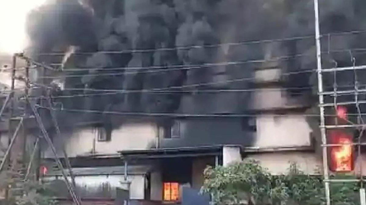 Hindistan'da kimyasal üretim fabrikasında yangın: Gökyüzü dumanlarla kaplandı