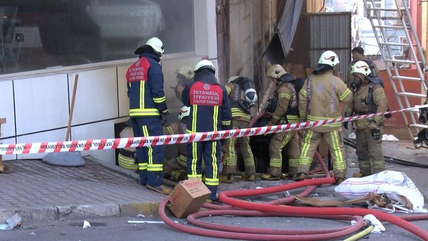 Bağcılar'da iş yerinde patlama sonrası yangın: 4 yaralı