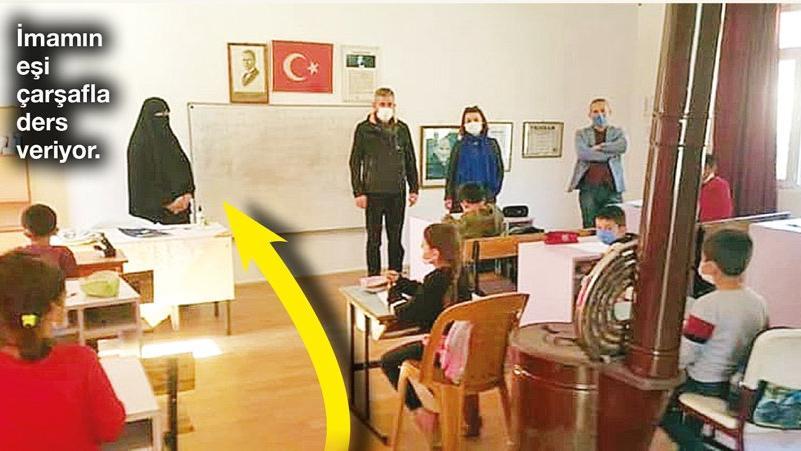 Öğretmenler atama bekliyor, imamın eşi derse giriyor