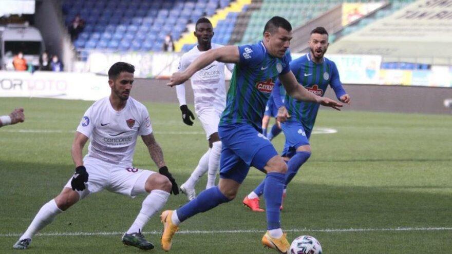 Çaykur Rizespor, Hatayspor'u yenerek hayata döndü!