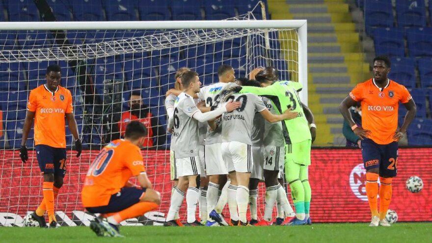 Top oyunda kaldı Başakşehir Beşiktaş maçı nefes kesti! İzleyiciyi sürükleyen istatistik…