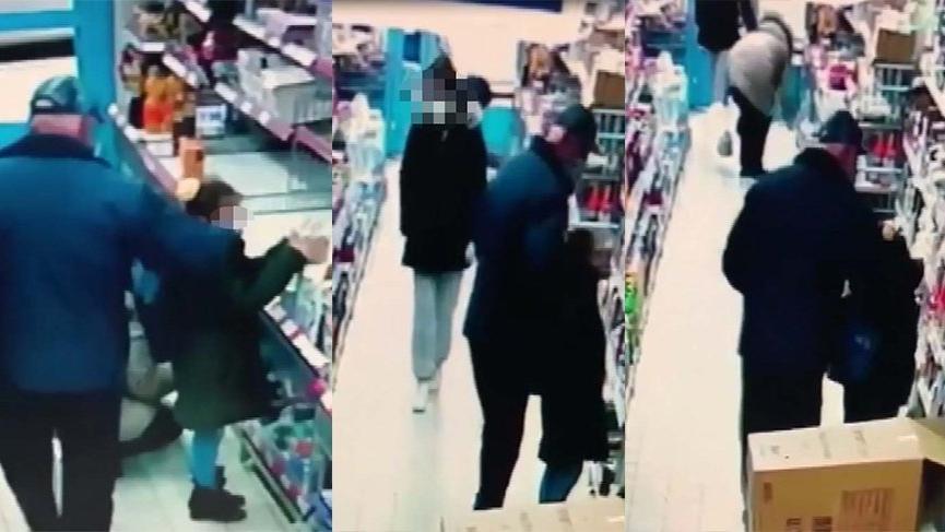 Markette kız çocuğunu taciz eden yaşlı sapık yakalandı