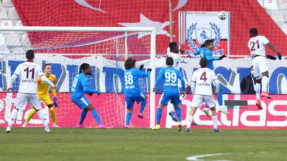 Erzurumspor-Trabzonspor maçından galip çıkmadı