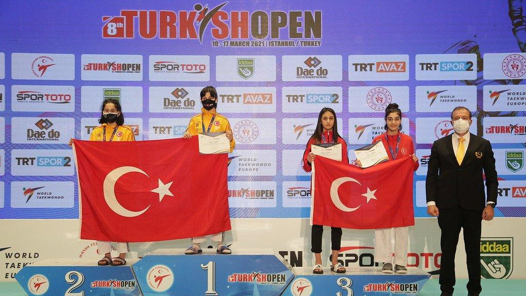 Turkish Open 2021'in 6'ncı gününde milli tekvandoculardan 6'sı altın 22 madalya