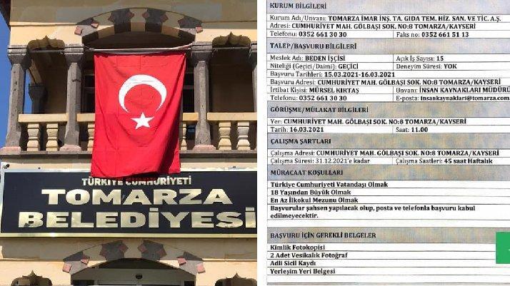 AKP'li belediyenin 1 günlük iş ilanına tepki: Yazıktır, günahtır, ayıptır