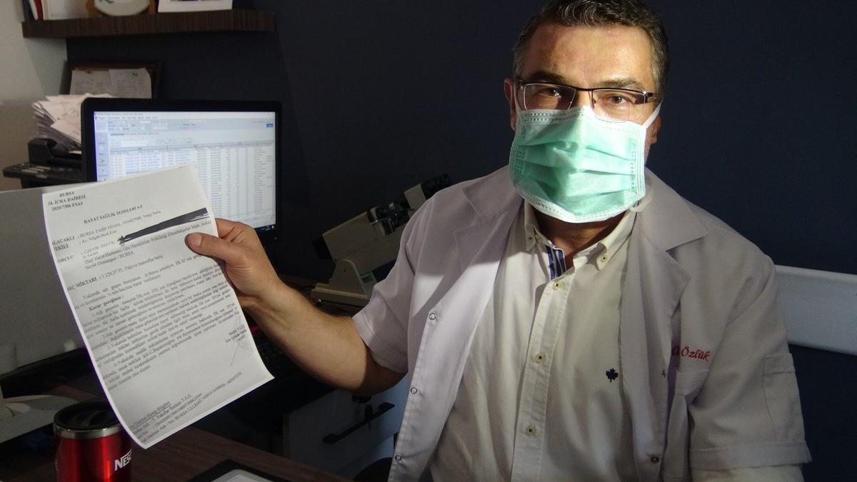Bursalı doktora 14 Mart Tıp Bayramı'nda haciz şoku