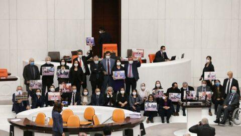 Milletvekilliği düşürülen Gergerlioğlu TBMM Genel Kurul salonundan ayrıldı