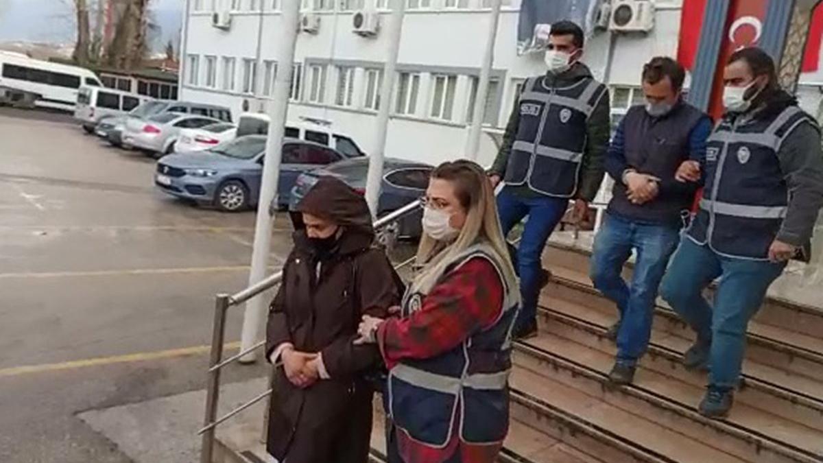 96'şar yıl hapis cezası bulunan suç makinesi çift yakalandı