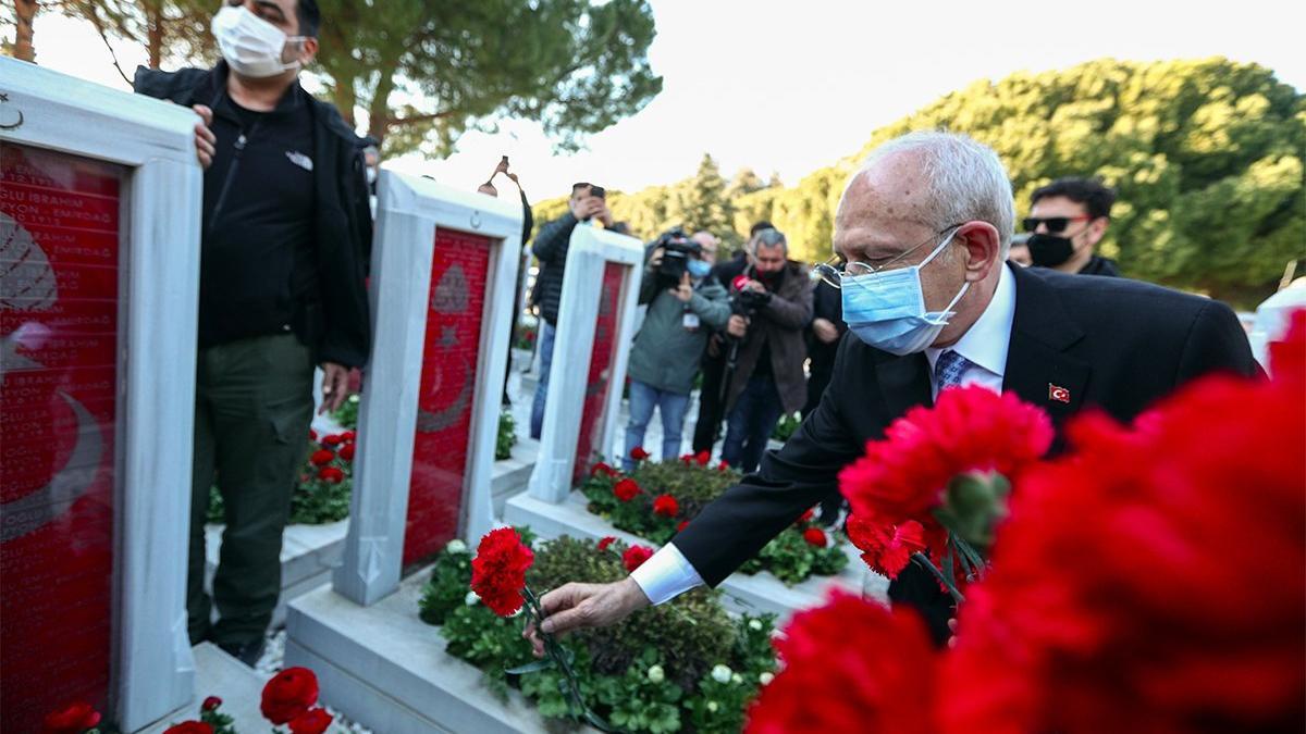 Kemal Kılıçdaroğlu Şehitler Abidesini ziyaret etti