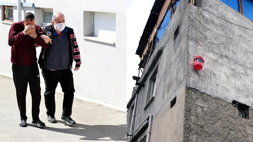 Damdan kova sarkıtarak uyuşturucu satışı yapan şüpheli yakalandı