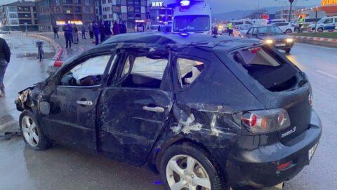 Polisin dur ihtarına uymayan sürücü takla attı