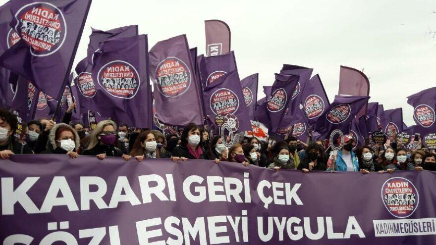 İstanbul Sözleşmesi'nin feshedilmesine karşı eylem - Son dakika haberleri