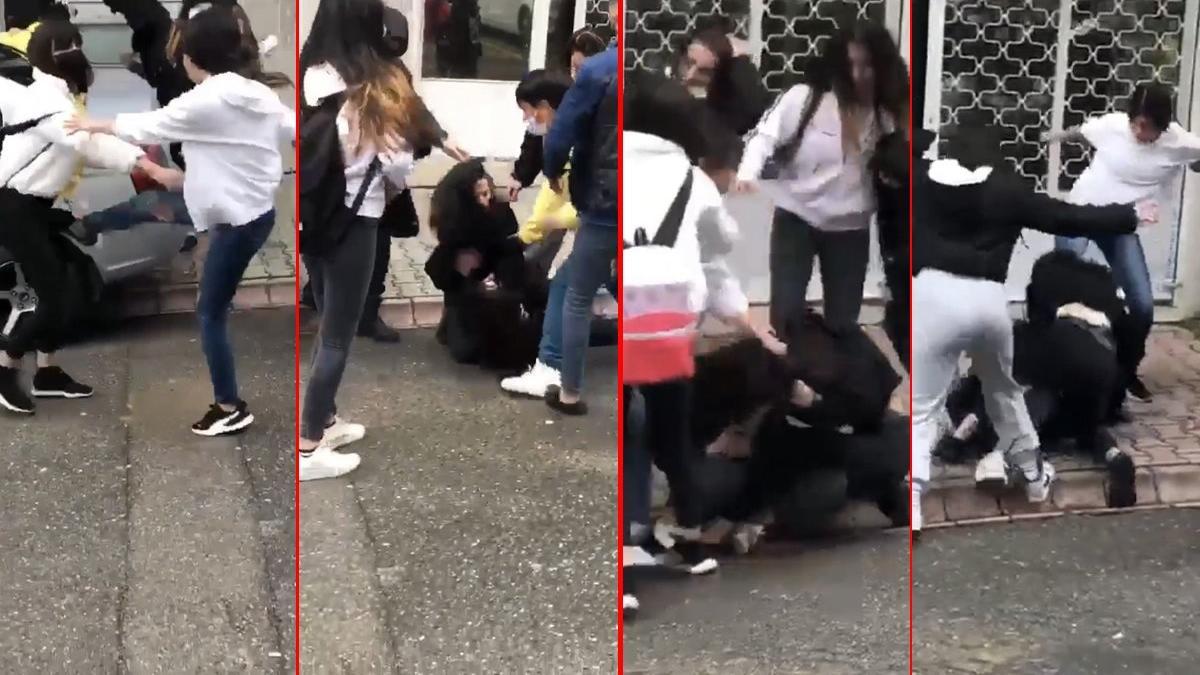 Genç kızı yere yatırılıp tekme tokat dövdüler