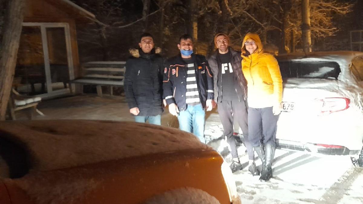 Yaylada kar nedeniyle mahsur kalan 3 kişi kurtarıldı