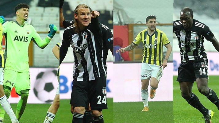 Beşiktaş-Fenerbahçe derbisine damga vurdular... Vida-Ozan Tufan-Aboubakar-Altay Bayındır