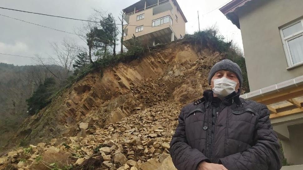 Heyelan nedeniyle 3 ev tahliye edildi