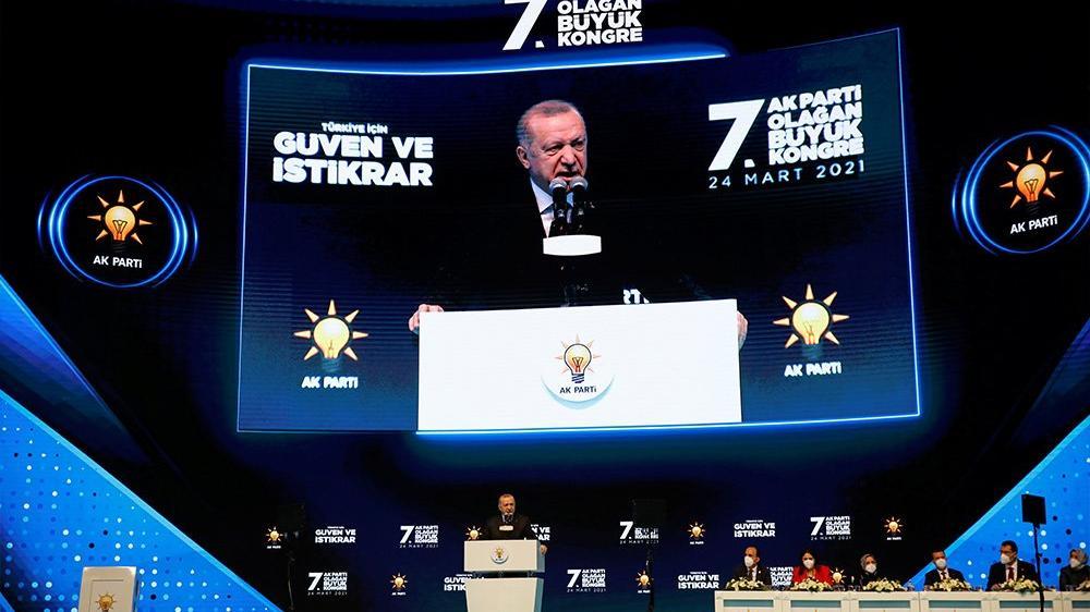 Erdoğan İstanbul Sözleşmesi'ni konuşmasından çıkardı