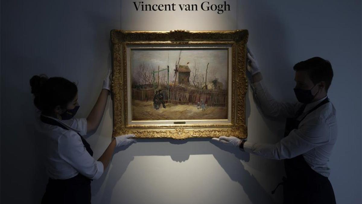 Van Gogh'un 'Montmartre'deki Sokak Manzarası' adlı eseri rekor fiyata satıldı