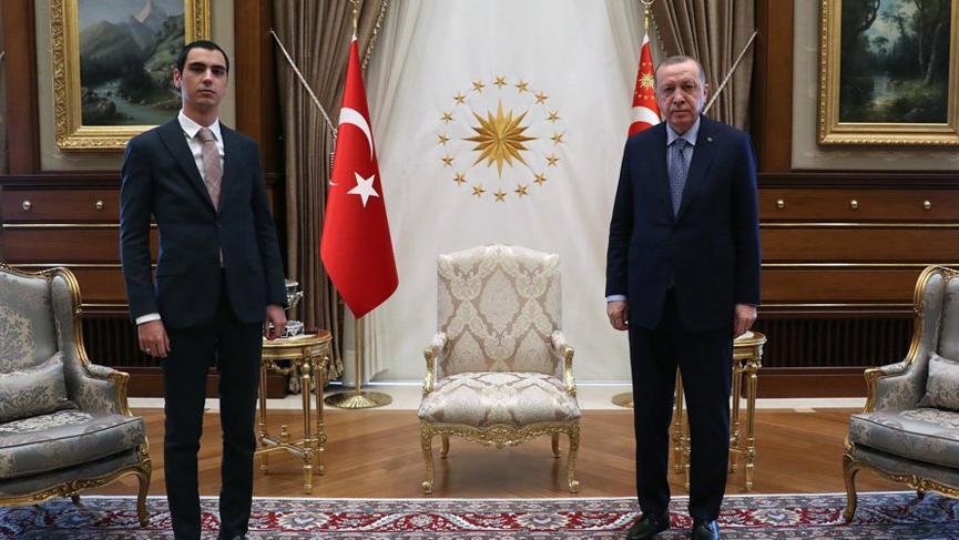 Cumhurbaşkanı Erdoğan Muhsin Yazıcıoğlu'nun oğlu ile görüştü