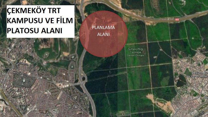İstanbul'da TRT'ye tahsis edilen 453 dönüm orman arazisi imara açıldı