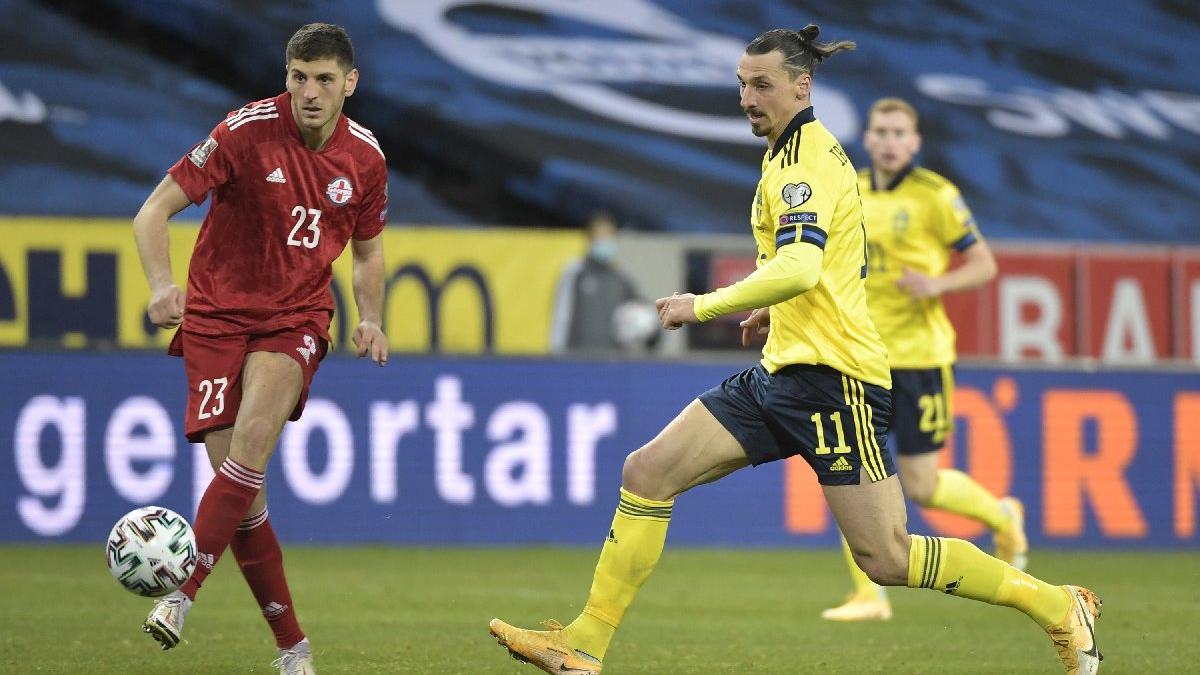 Zlatan Ibrahimovic geri döndü... İsveç Gürcistan'ı geçti
